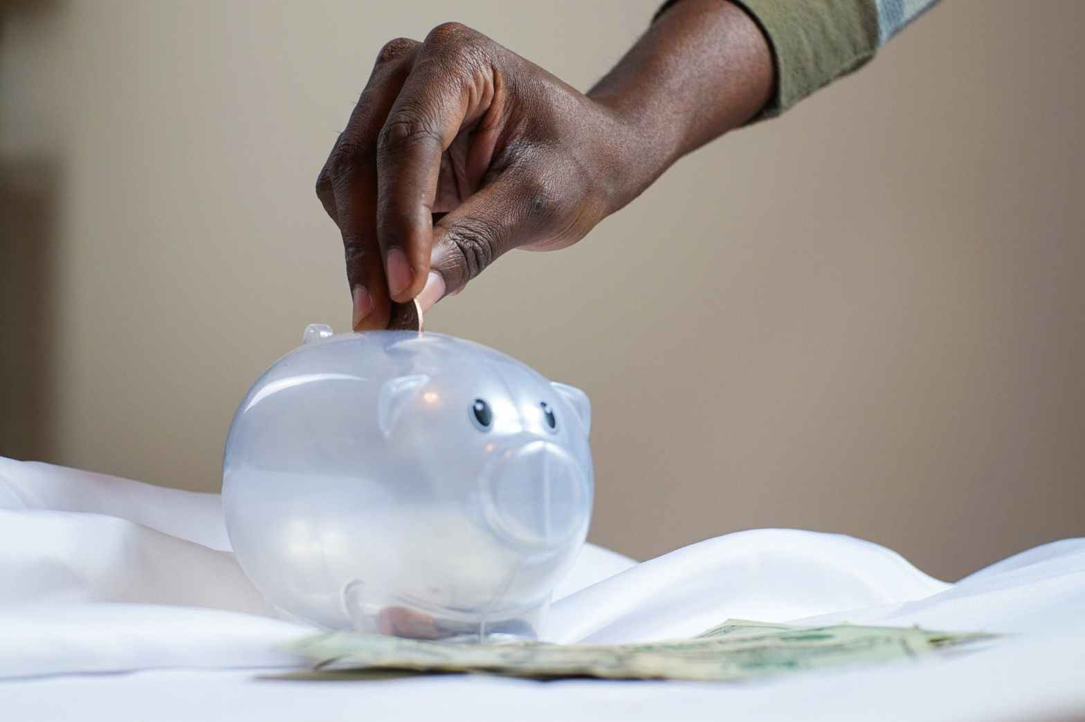 plastic piggy bank
